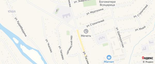Улица Тасимова на карте села Бурибая с номерами домов