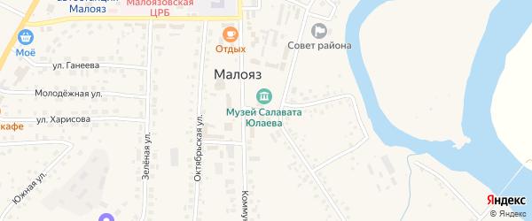 Улица А.Сайфуллина на карте села Малояза с номерами домов