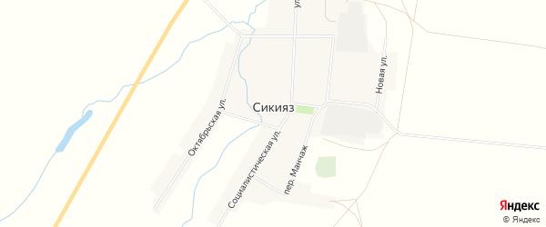 Карта села Сикияза в Башкортостане с улицами и номерами домов