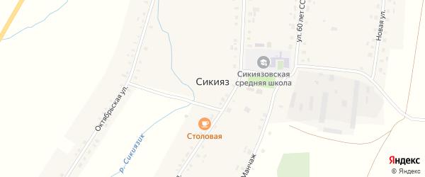 Переулок Манчаж на карте села Сикияза с номерами домов