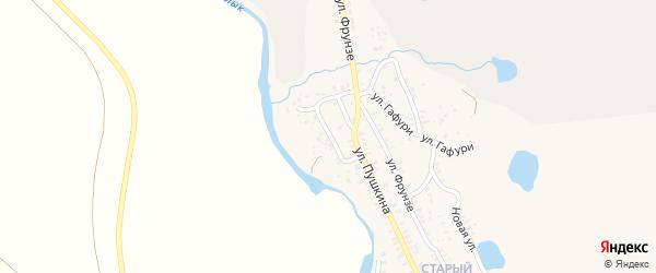Улица Давлетшиной на карте села Бурибая с номерами домов