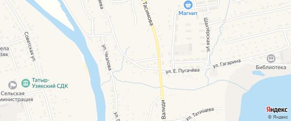 Улица Салавата на карте села Бурибая с номерами домов
