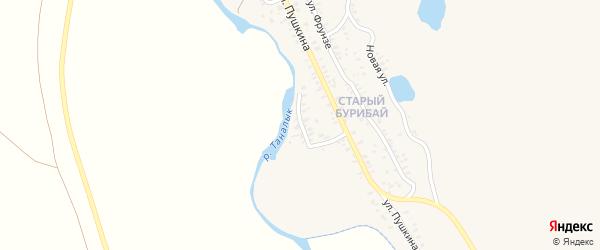 Набережная улица на карте села Бурибая с номерами домов