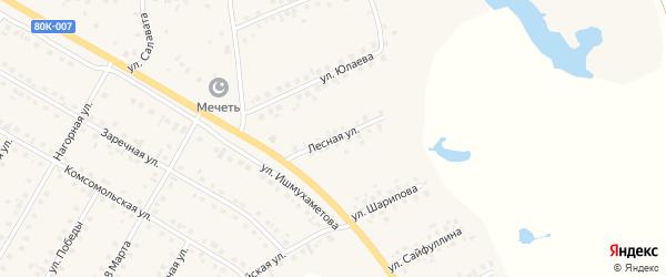 Лесная улица на карте села Малояза с номерами домов