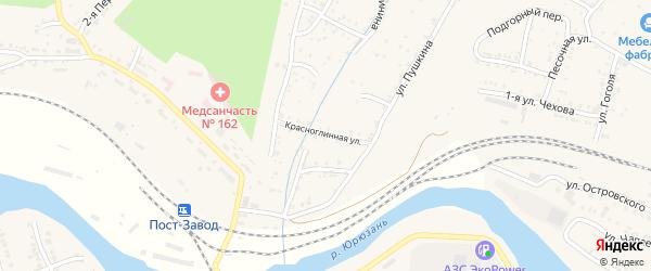 Улица Тараева на карте Усть-Катава с номерами домов