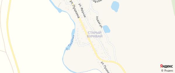 Улица Пушкина на карте села Бурибая с номерами домов