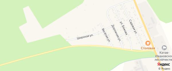 Широкая улица на карте Катава-Ивановска с номерами домов