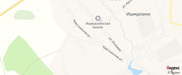 Крестьянская улица на карте села Ишмурзино с номерами домов