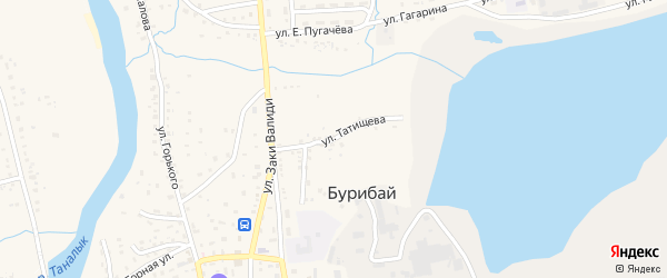 Улица Татищева на карте села Бурибая с номерами домов