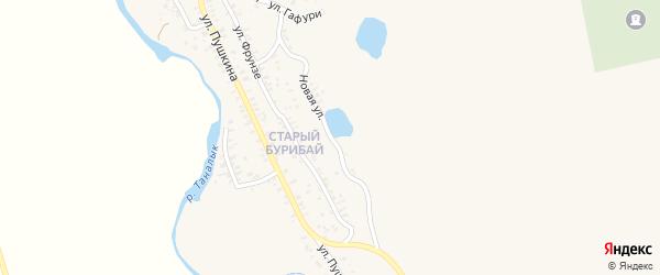 Новая улица на карте села Бурибая с номерами домов
