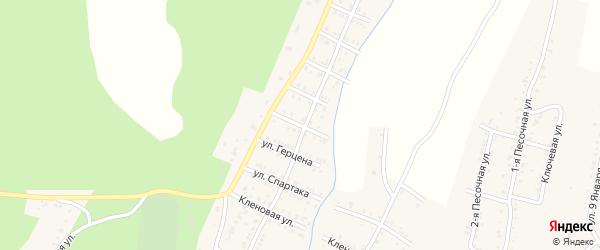 Улица Свердлова на карте Усть-Катава с номерами домов