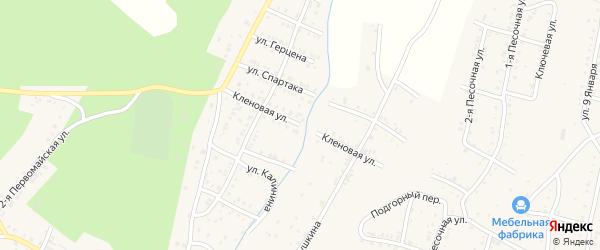 Кленовая улица на карте Усть-Катава с номерами домов