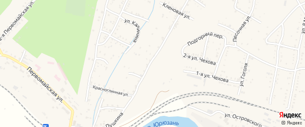 Родниковая улица на карте Усть-Катава с номерами домов