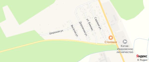 Веселая улица на карте Катава-Ивановска с номерами домов