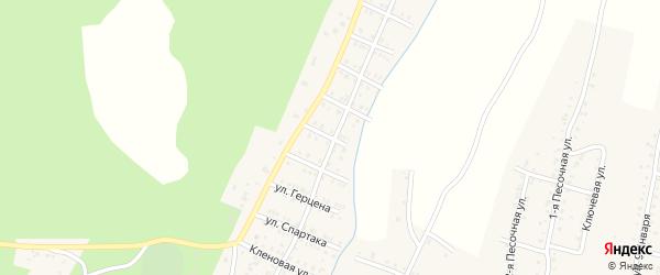 Улица Репина на карте Усть-Катава с номерами домов