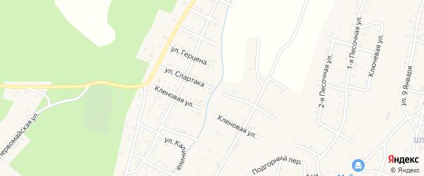 Улица Спартака на карте Усть-Катава с номерами домов