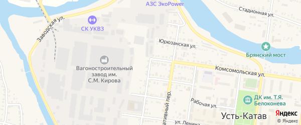ПК Автолюбитель 6/1 Комсомольская улица на карте Усть-Катава с номерами домов