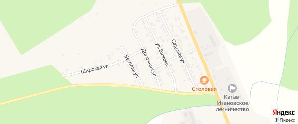 Дорожная улица на карте Катава-Ивановска с номерами домов