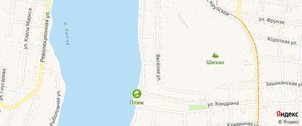 Прудовая 3-я улица на карте Усть-Катава с номерами домов