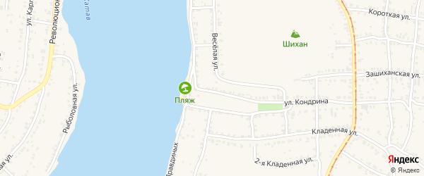 Улица ПК Автолюбитель-14 Кондрина 9 на карте Усть-Катава с номерами домов