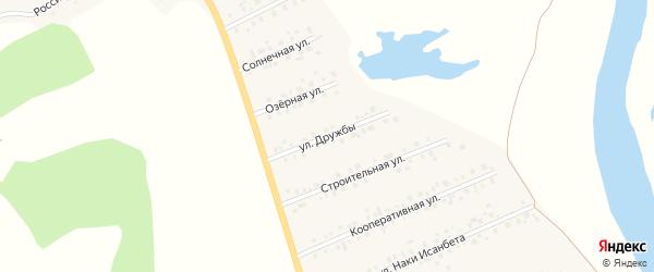 Улица Дружбы на карте села Малояза с номерами домов