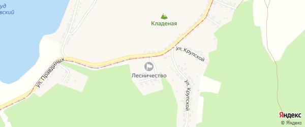 Улица Бахарева на карте Усть-Катава с номерами домов