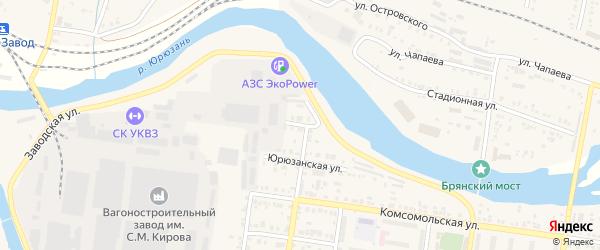 Мастерская улица на карте Усть-Катава с номерами домов