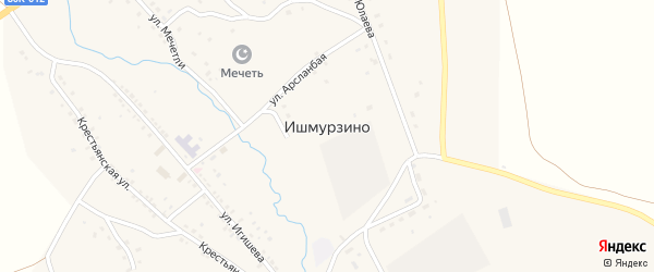 Улица З.Валиди на карте села Ишмурзино с номерами домов