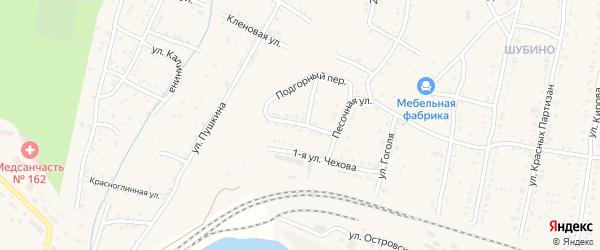 Чехова 2-я улица на карте Усть-Катава с номерами домов
