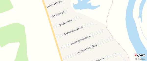 Строительная улица на карте села Малояза с номерами домов