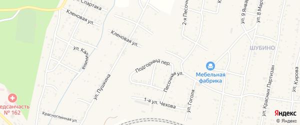 Подгорный переулок на карте Усть-Катава с номерами домов