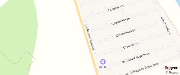 Улица Мустая Карима на карте села Малояза с номерами домов