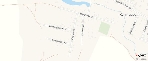 Южная улица на карте села Куянтаево с номерами домов