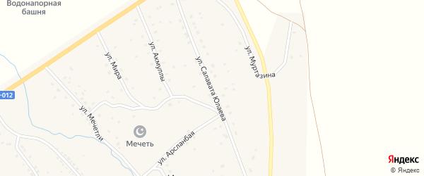 Улица С.Юлаева на карте села Ишмурзино с номерами домов