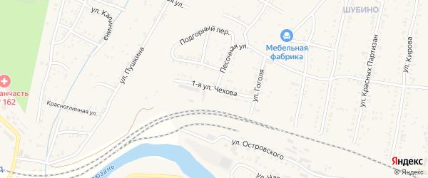 Чехова 1-я улица на карте Усть-Катава с номерами домов