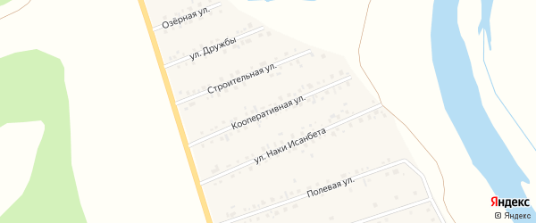 Кооперативная улица на карте села Малояза с номерами домов