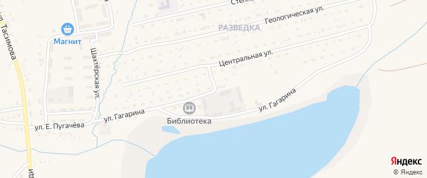 Улица Гагарина на карте села Бурибая с номерами домов