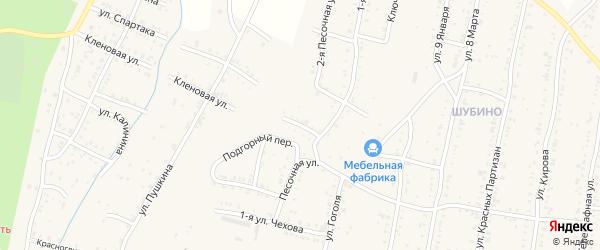 Песочный переулок на карте Усть-Катава с номерами домов