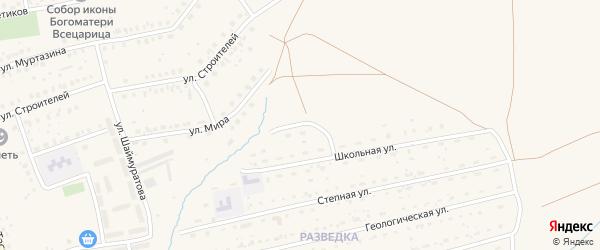 Улица Ш.Бабича на карте села Бурибая с номерами домов