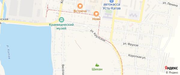 Почтовая улица на карте Усть-Катава с номерами домов