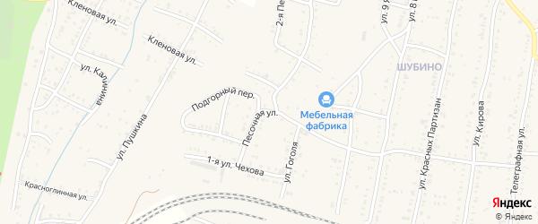 Песочная улица на карте Усть-Катава с номерами домов