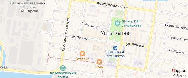 Улица Ленина на карте Усть-Катава с номерами домов