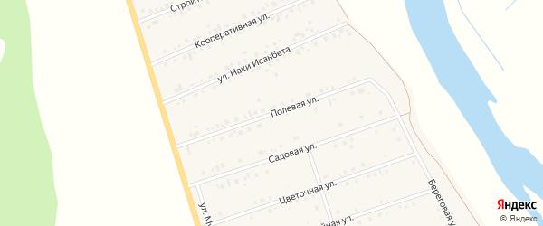 Полевая улица на карте села Малояза с номерами домов