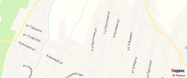 Песочная 2-я улица на карте Усть-Катава с номерами домов