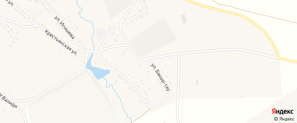 Улица Бакыр-тау на карте села Ишмурзино с номерами домов