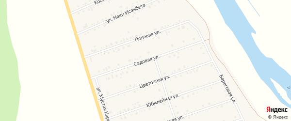 Садовая улица на карте села Малояза с номерами домов