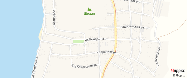 Улица ПК Автолюбитель-9 Кондрина 60 на карте Усть-Катава с номерами домов