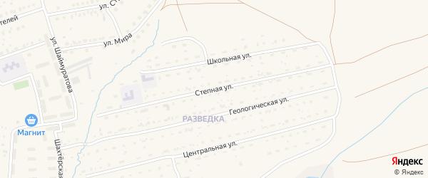 Степная улица на карте села Бурибая с номерами домов