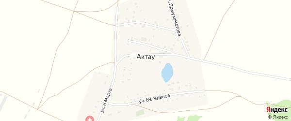 Улица Ветеранов на карте деревни Актау с номерами домов