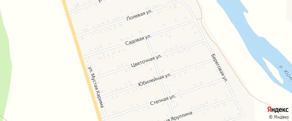 Цветочная улица на карте села Малояза с номерами домов